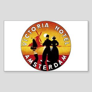 Amsterdam Netherlands Rectangle Sticker