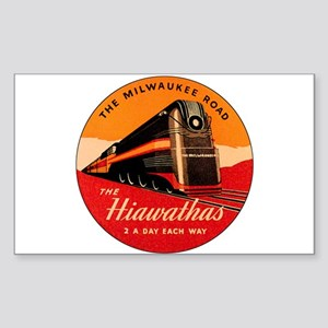 Milwaukee Road Passenger Train Rectangle Sticker