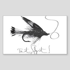 Tie It, Fly It! Sticker (Rectangle)
