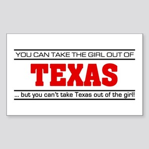 'Girl From Texas' Sticker (Rectangle)