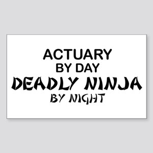 Actuary Deadly Ninja Rectangle Sticker