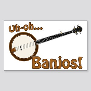 Uh-oh Banjos! Sticker (Rectangle)