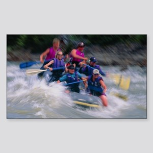 Whitewater rafting Sticker (Rectangle)
