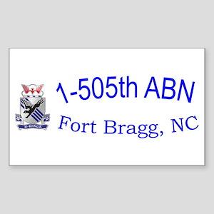 1st Bn 505th ABN Sticker (Rectangle)