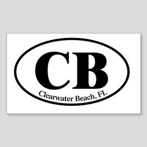 CB.Clearwater Beach.Dutch.whit Sticker (Rectangle)