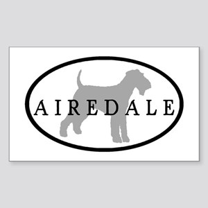 Airedale Terrier Oval #3 Rectangle Sticker