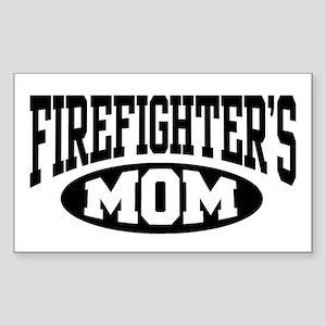 Firefighter's Mom Rectangle Sticker
