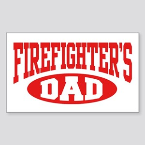 Firefighter's Dad Rectangle Sticker