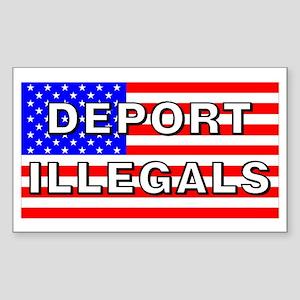Deport Illegals Rectangle Sticker