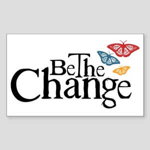Be the Butterfly and Change Sticker (Rectangle)