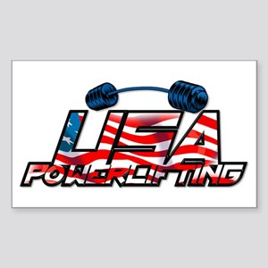 U.S. Powerlifting Rectangle Sticker