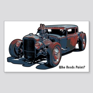 Rat Rod1 Rectangle Sticker