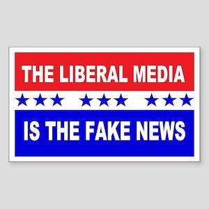 Liberal Fake News Sticker (Rectangle)