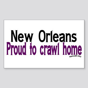 NOLA Proud To Crawl Home Rectangle Sticker