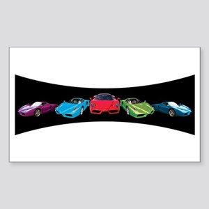 Ferrari Enzo stripe Rectangle Sticker