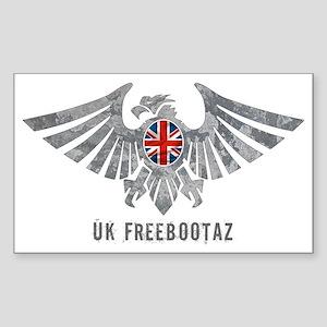 UK Freebootaz Sticker (Rectangle)