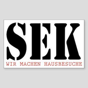 SEK WIR MACHEN HAUSBESUCHE Sticker (Rectangle)