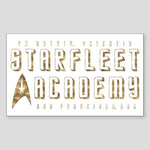 StarFleet Gold Sticker (Rectangle)