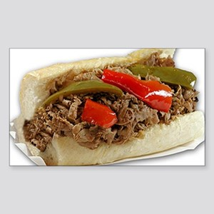 Italian Beef Sandwich from Chi Sticker (Rectangle)