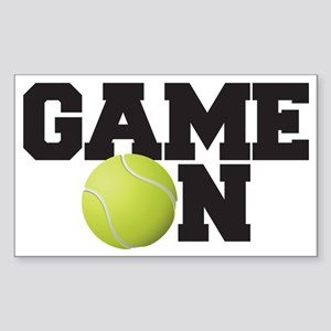 Game On Tennis Sticker (Rectangle)