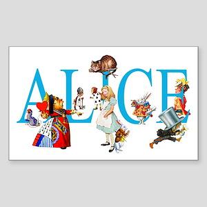 ALICE & FRIENDS IN WONDERLAND Sticker (Rectangle)