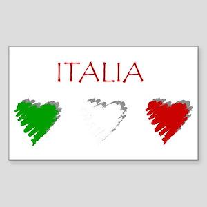 Italy Love Italian style Rectangle Sticker