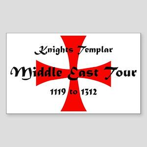 Knights Templar world Tour Sticker (Rectangle)