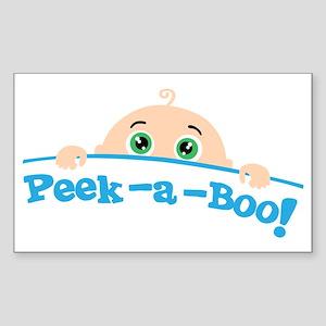Peek a Boo Sticker (Rectangle)