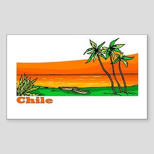 Chile Rectangle Sticker