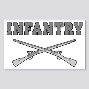 INFANTRY CROSSED RIFLES Sticker (Rectangle)