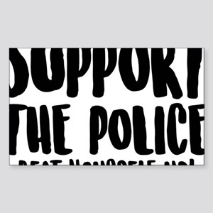 Support the police - beat yourself up! Sticker