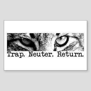 Trap. Neuter. Return. Rectangle Sticker