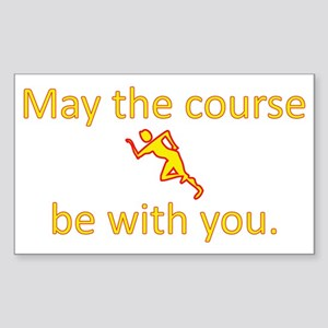 May the course be with you - R Sticker (Rectangle)