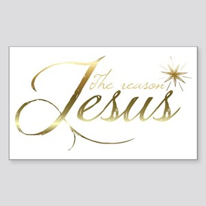 Jesus is the reason for the se Sticker (Rectangle)