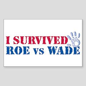 Roe vs Wade (hand) Sticker (Rectangle)