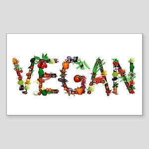 Vegan Vegetable Sticker (Rectangle)