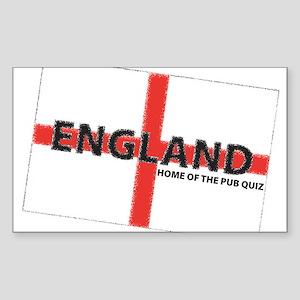 England - Home of the Pub Qui Sticker (Rectangular