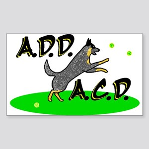 add acd blue Rectangle Sticker