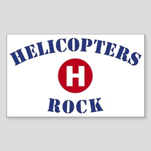 Helicopters Rock Rectangle Sticker
