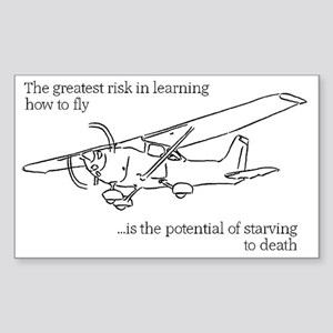 Flying Risk 2 Sticker (Rectangle)