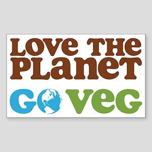 Love the Planet Go Veg Sticker