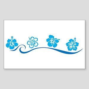 Flower Beach Rectangle Sticker