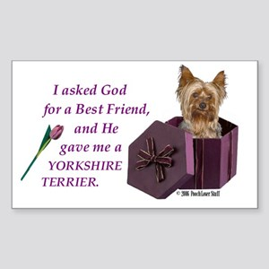 Yorkshire Terrier Yorkie Rectangle Sticker