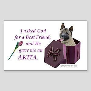 Akita Rectangle Sticker