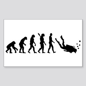 Evolution Diving Sticker (Rectangle)