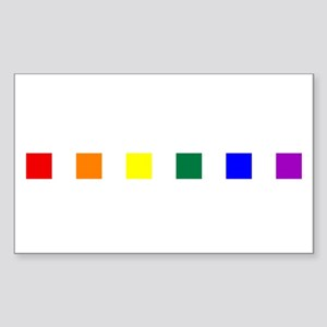 Rainbow Pride Squares Sticker (Rectangle)