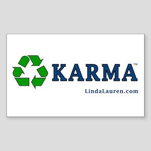 Recycle Karma Rectangle Sticker