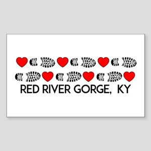 Red River Gorge Kentucky Hiking Love Sticker