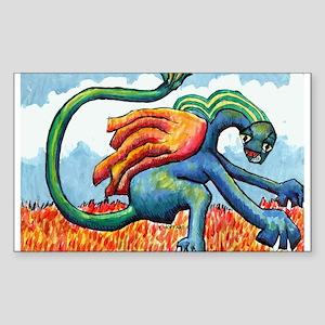 Dragon Rectangle Sticker