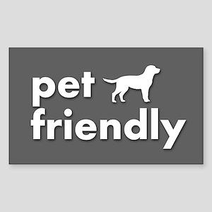 pet friendly art illustration Sticker